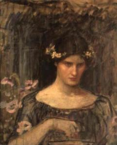 A sketch for Medea by John Waterhouse, 1906-07