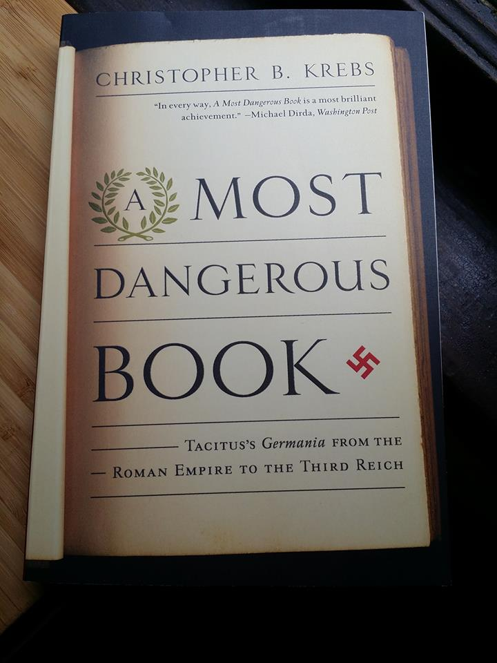 "Cover of ""A Most Dangerous Book"" by Christopher B. Krebs."